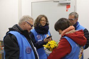 Mitarbeitende der Bahnhofsmission Erfurt